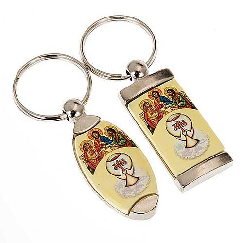 Porte-clés métal Cène à Emmaüs 1
