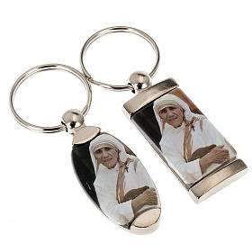 Keyring in metal, Mother Teresa of Calcutta s1
