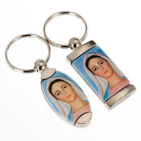 Keyring in metal, of Our Lady of Medjugorje s1