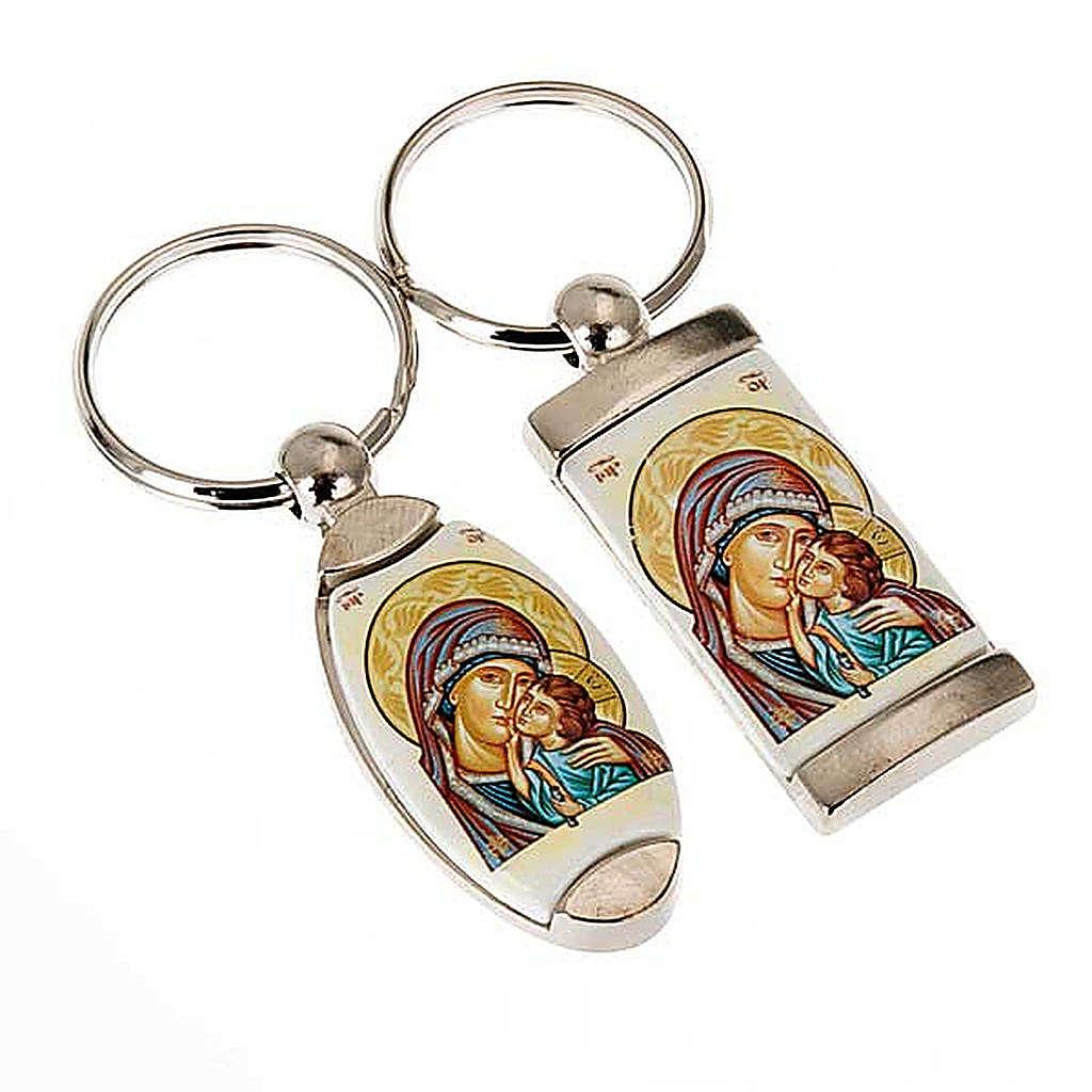 Portachiavi icona Madonna della Tenerezza 3