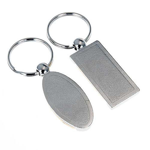 Keyring in metal with image of Our Lady of Medjugorje 2