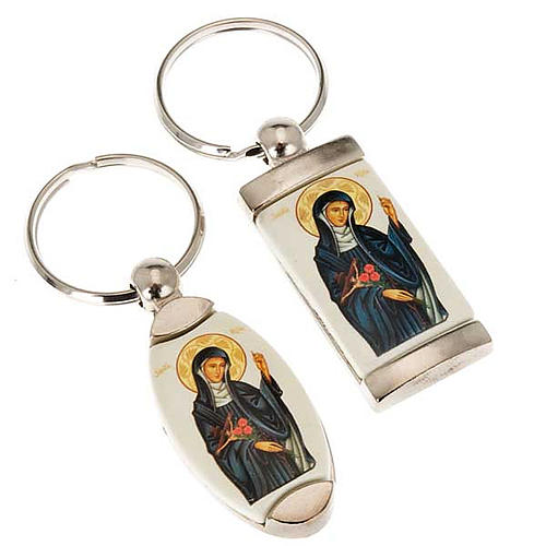 Porte-clés métal icône Sainte Rita 1