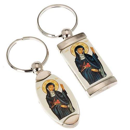Portachiavi metallo icona Santa Rita 1