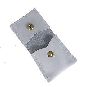 Porte-clés cuir blanc calice raisins IHS s3