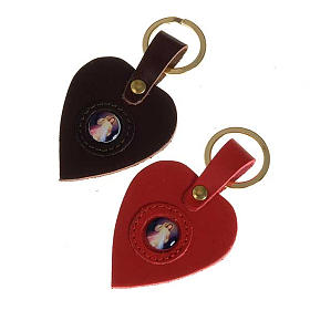 Heart shaped keyring with the Divine Mercy s1