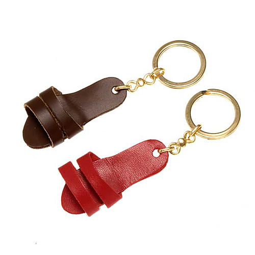 Keychain, sandal shaped in real leather 1