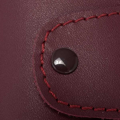 Key case in leather with 6 hooks, Jesus image 4