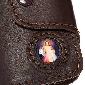 Llavero de Jesús 6 ganchos en cuero s2