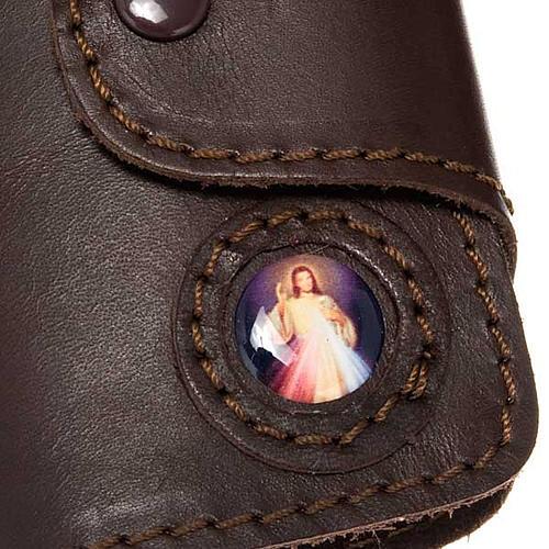 Porte- clés cuir 6 attaches image Jésus 2