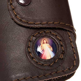 Key case in leather with 6 hooks, Jesus image s2
