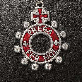 Portachiavi anello smalto rosso Ave Maria (italiano) s3