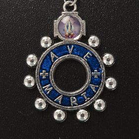 Portachiavi anello smalto blu Ave Maria (inglese) s2