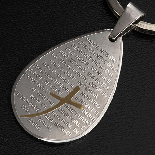 Our Father prayer key ring drop shaped 2