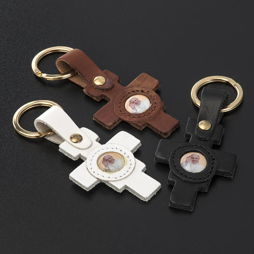Pope Francis key ring cross shaped 2