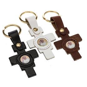 Portachiavi croce San Damiano immagine Papa Francesco s1