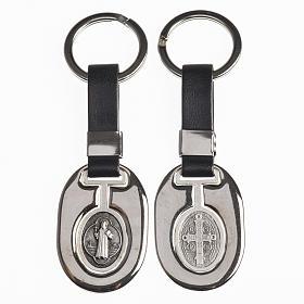 Portachiavi metallo San Benedetto con fascetta similpelle s1