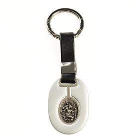 Porte-clés: Porte clé St Christoph zamak gris opaque