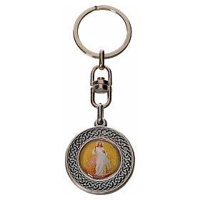 Porte-clé Jésus Miséricordieux rond zamac s1