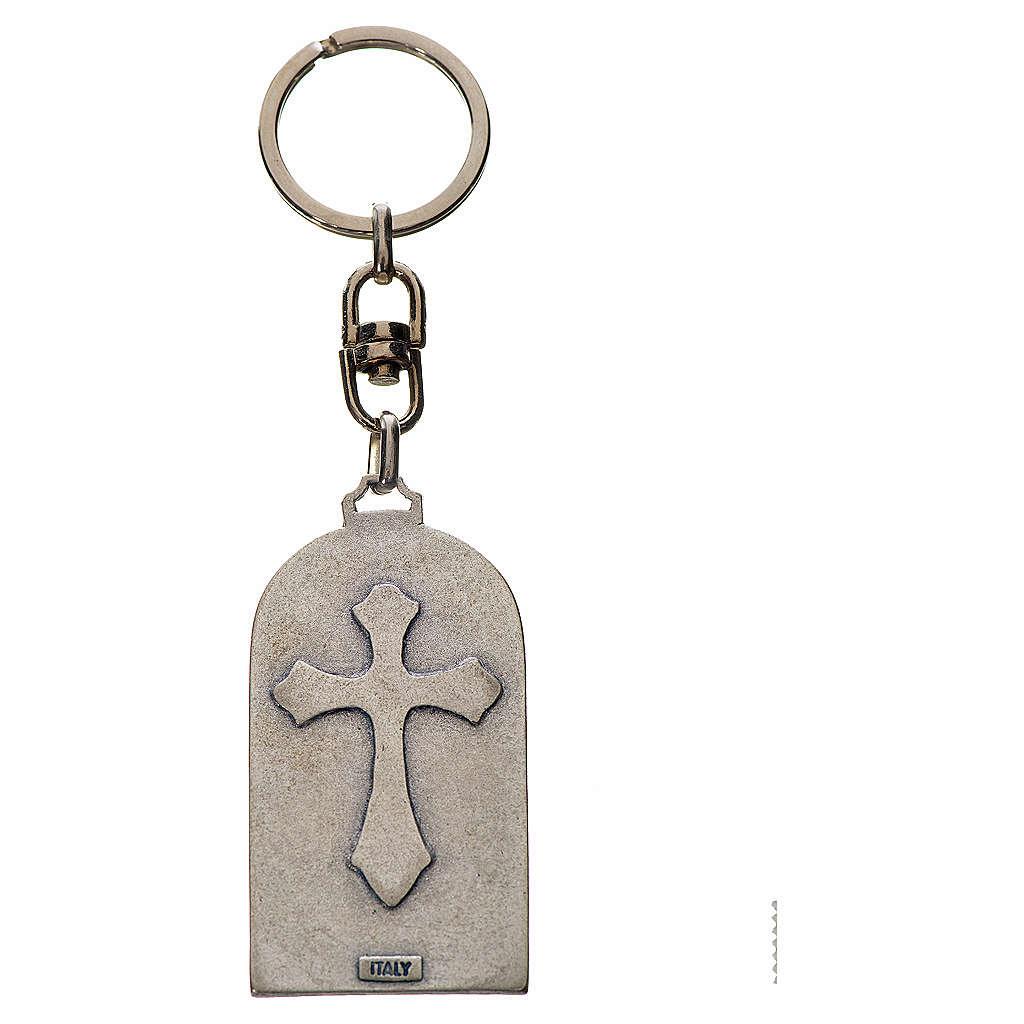 Porte-clé en zamac Notre Dame de Lourdes 3