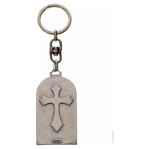 Porte-clé en zamac Notre Dame de Lourdes 2