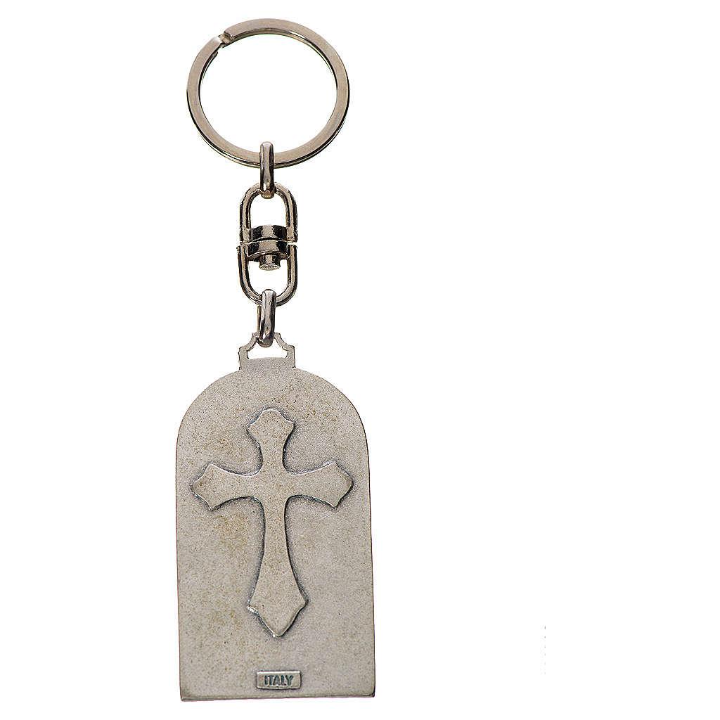 Holy Family Keychain, oval in zamak 3
