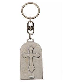 Holy Family Keychain, oval in zamak s2