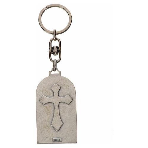 Holy Family Keychain, oval in zamak 2