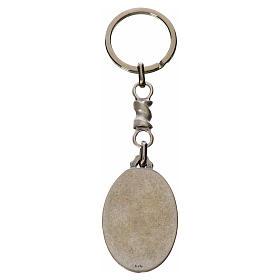 Porte-clé ovale Christ Miséricordieux zamac s2