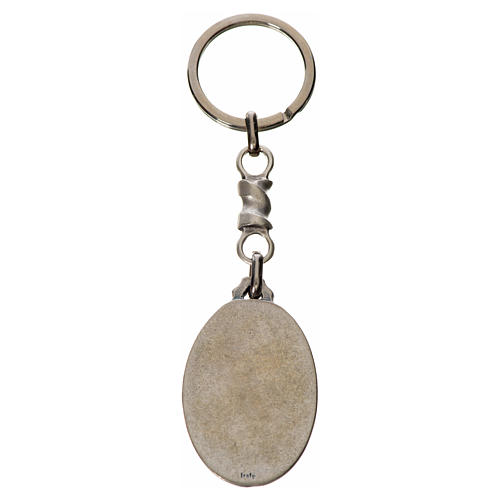 Porte-clé ovale Christ Miséricordieux zamac 2