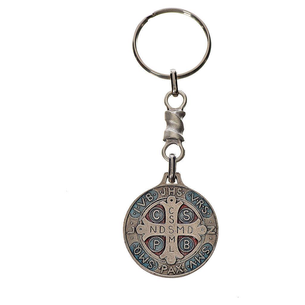 Portachiavi medaglia croce San Benedetto zama cm 2,9 3