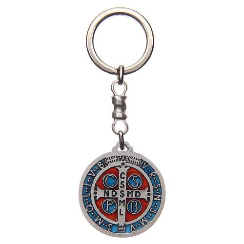 Chaveiro medalha cruz São Bento zamak 4 cm 2