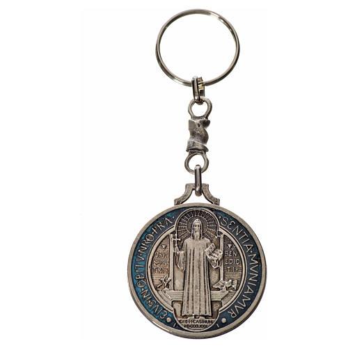 Keychain with Saint Benedict cross medal, zamak 4cm 3