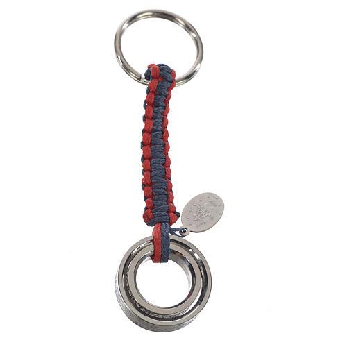 Llavero Abrazo cuerda azul y rojo ITALIANO 2