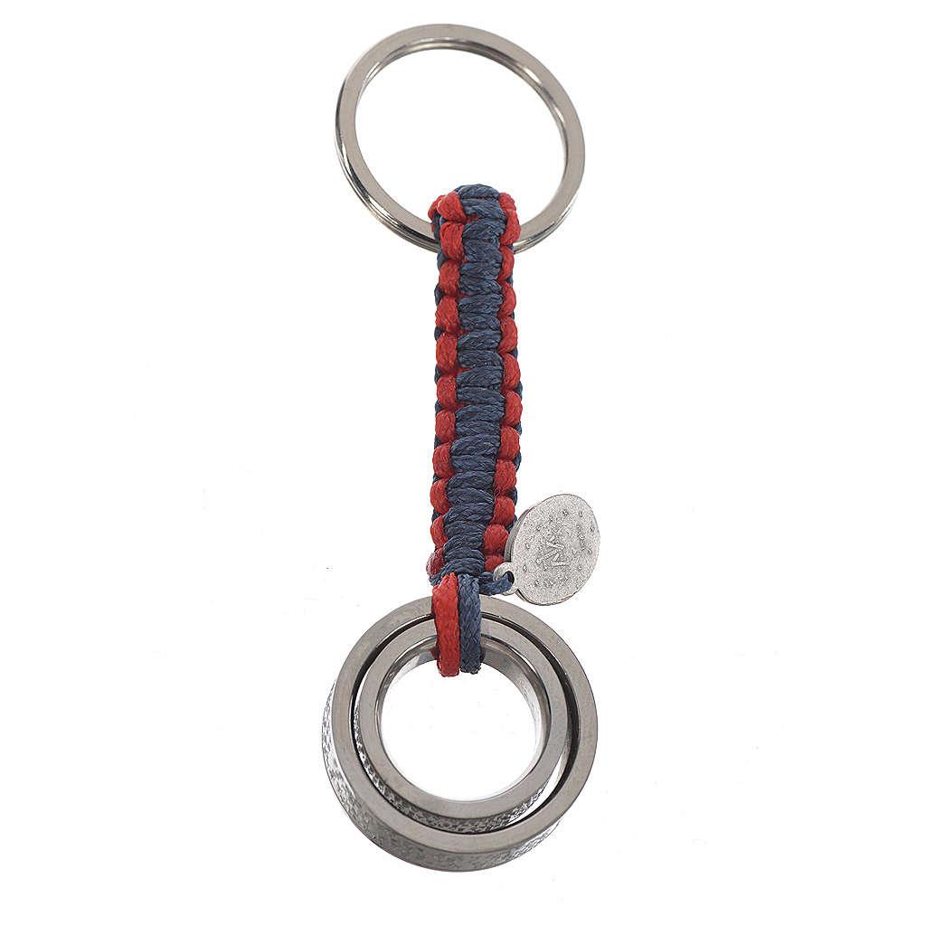 Llavero Abrazo ESPAÑOL cuerda azul y roja 3