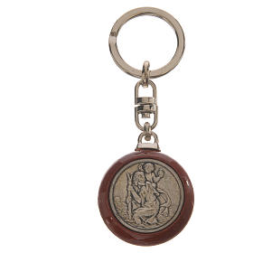 Key chain in wood and metal s1