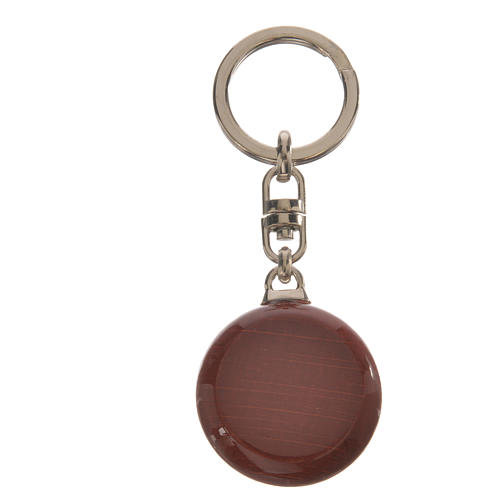 Key chain in wood and metal 2