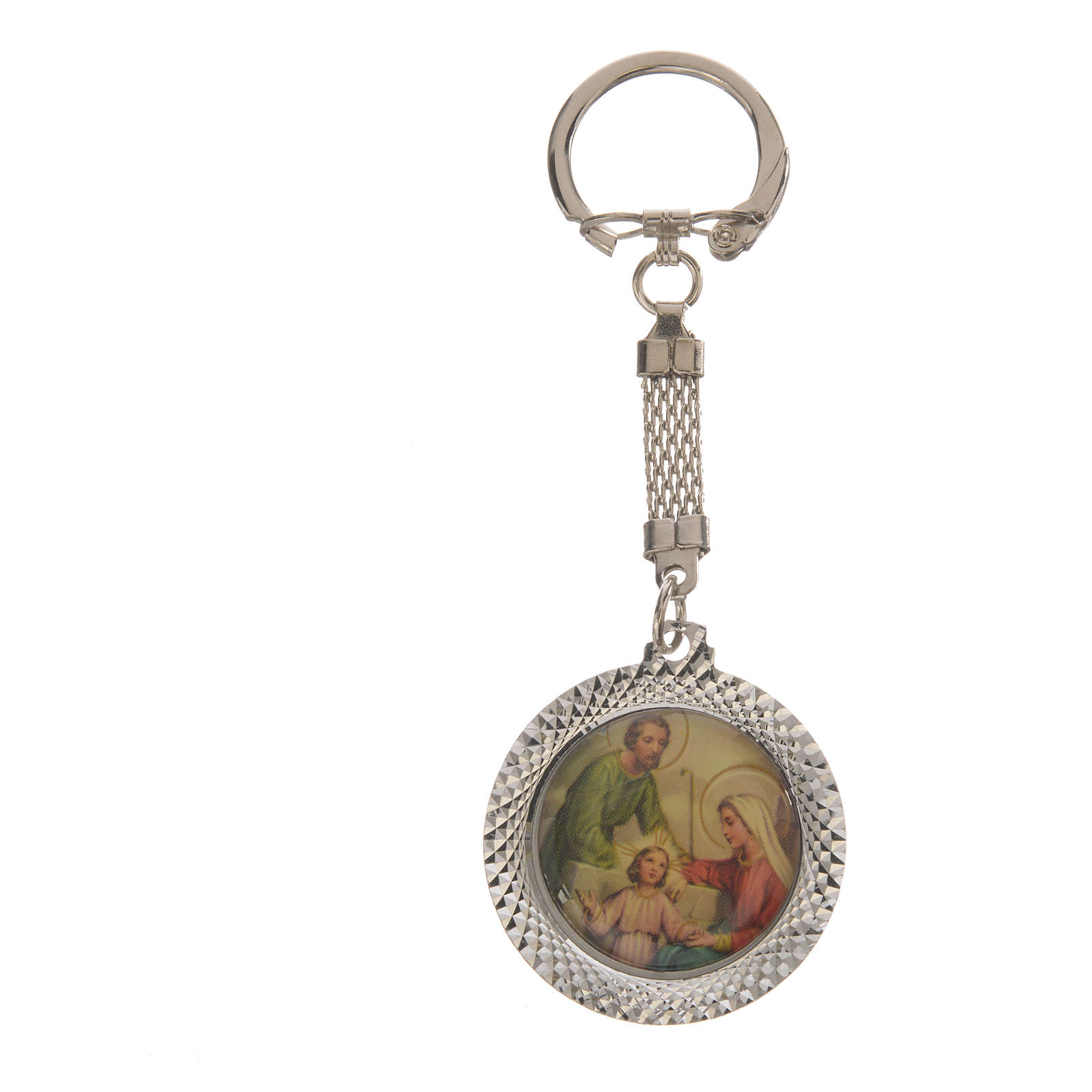 Key chain in metal with Holy Family 3.5cm 3