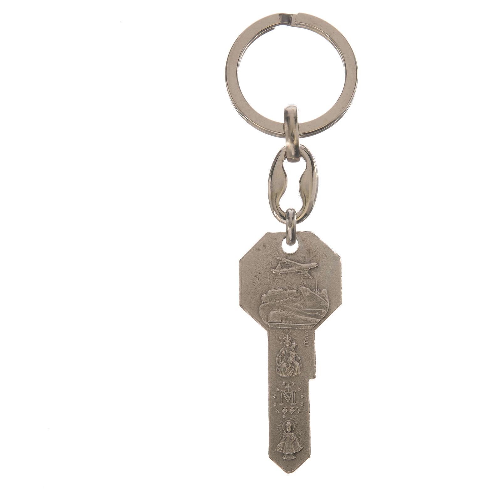 Schlüsselanhänger aus Metall in Form eines Schlüssels 3