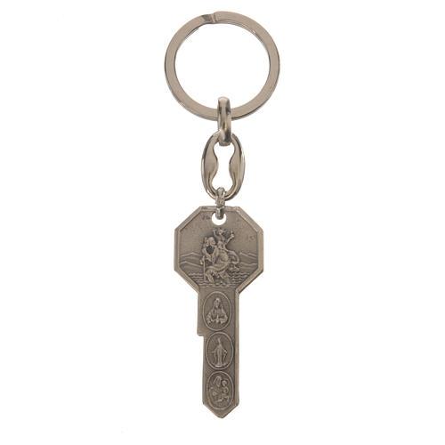 Schlüsselanhänger aus Metall in Form eines Schlüssels 1