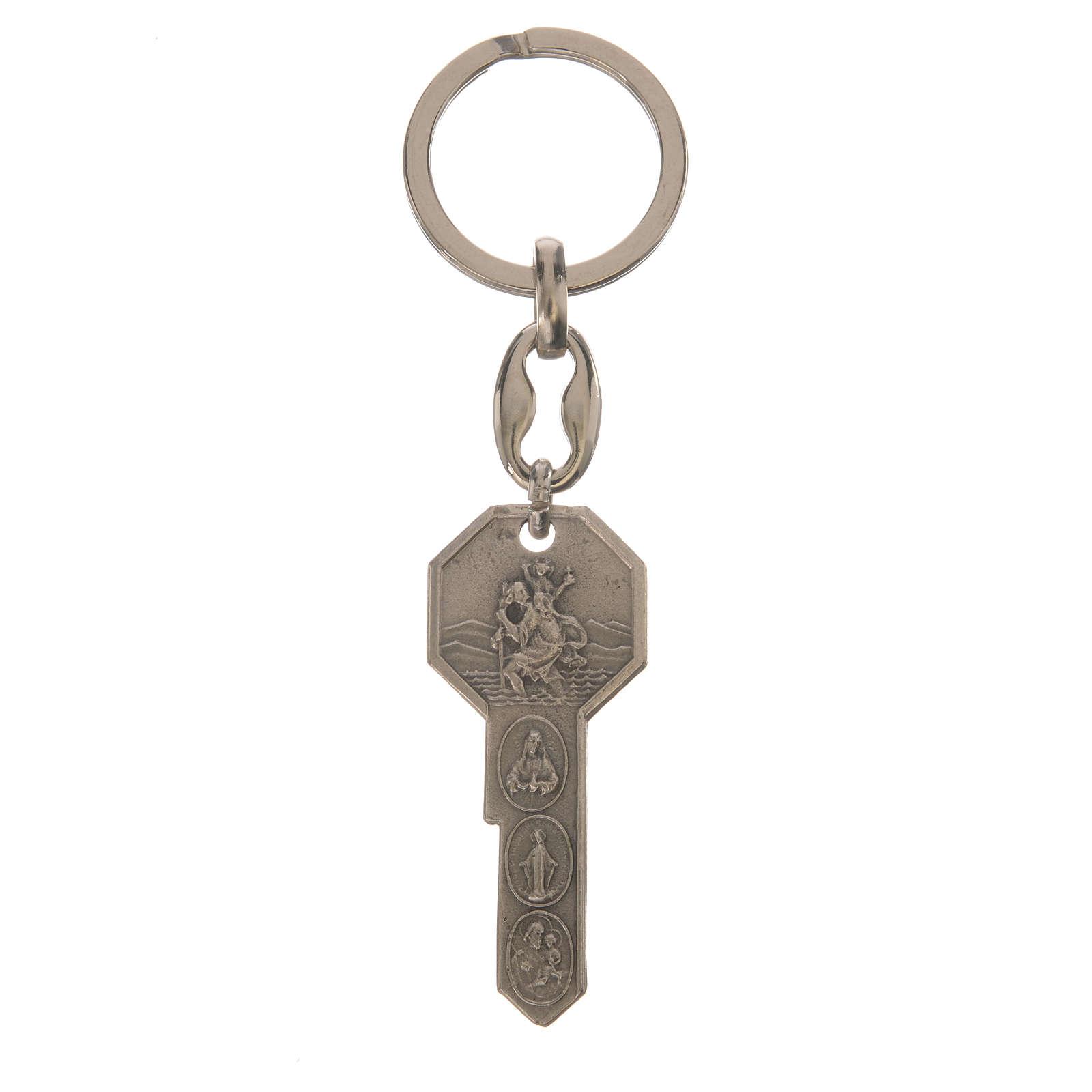 Llavero metal forma de llave 3