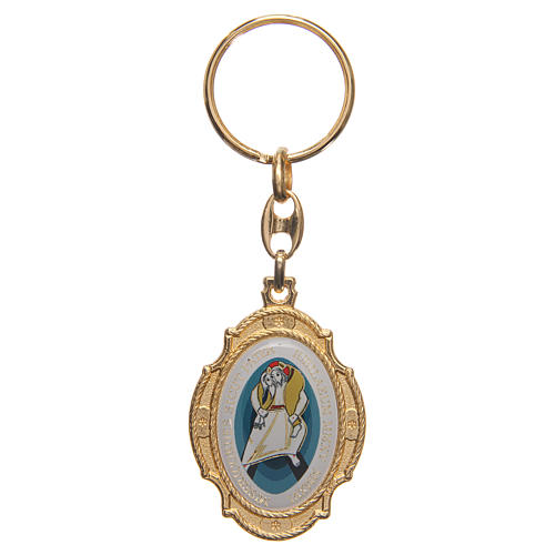 STOCK Porte-clef métal doré Jubilé Miséricorde 1
