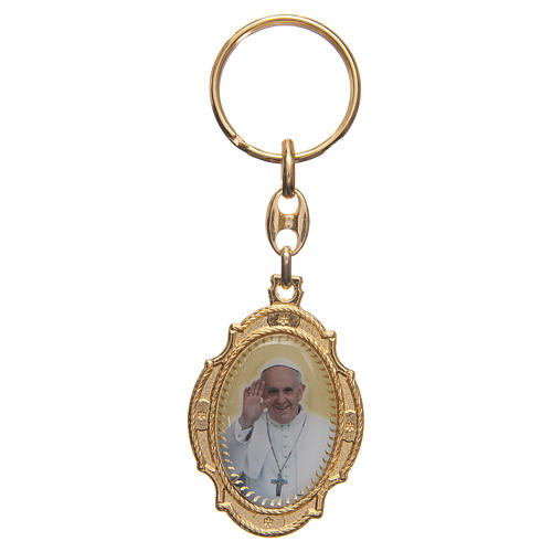 STOCK Key chain in golden metal with Jubilee of Mercy symbol 2