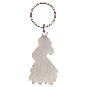 Porte-clé Christ Miséricordieux 5 cm argent vieilli galvanisé s2
