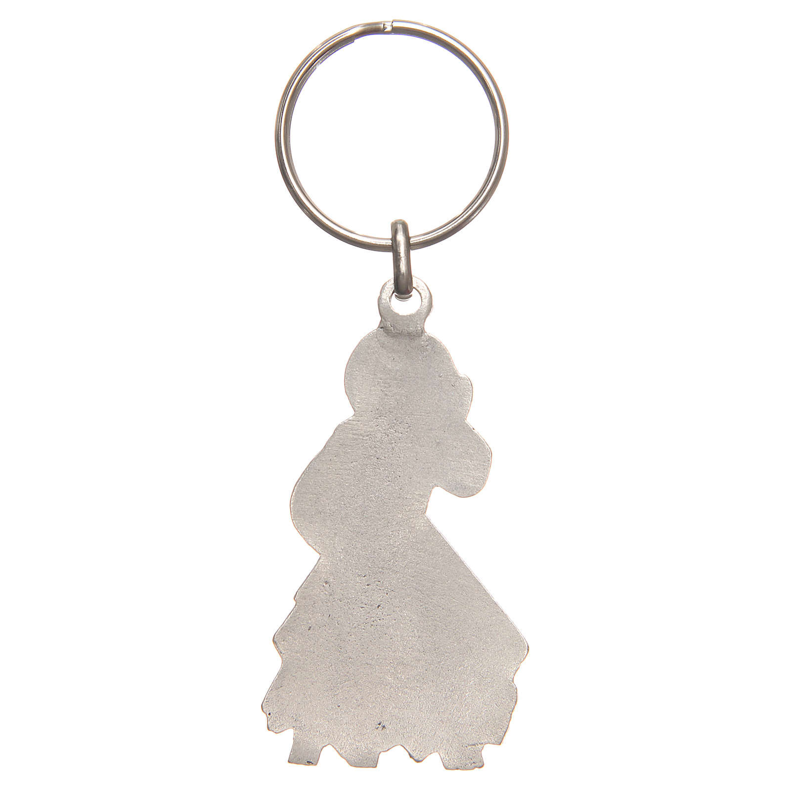 Keyring with Divine Mercy 5cm, galvanised antique silver 3