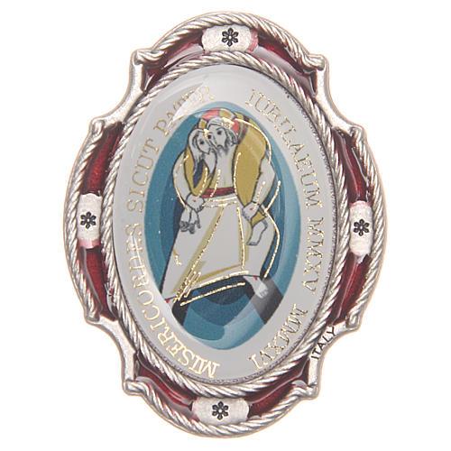 STOCK Aimant métal Jubilé Miséricorde rouge 1