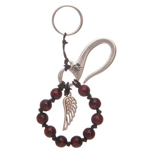 Portachiavi decina rosario ala angelo 1