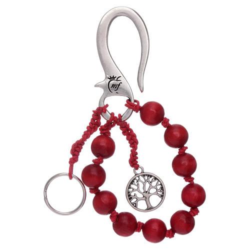 The Tree of Life decade rosary key ring 1