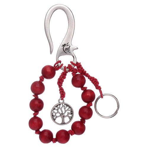 The Tree of Life decade rosary key ring 2
