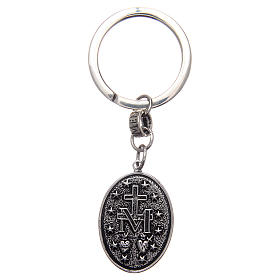 AMEN key-holder in 925 silver with Miraculous Medal s2