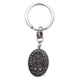 Keychain AMEN 925 Silver Rhodium Miraculous Mary s2